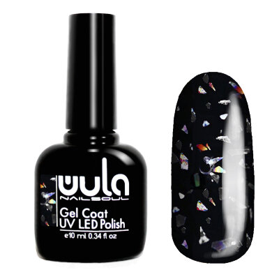 Wula nailsoul гель лак Glitter Rain 10мл тон 621