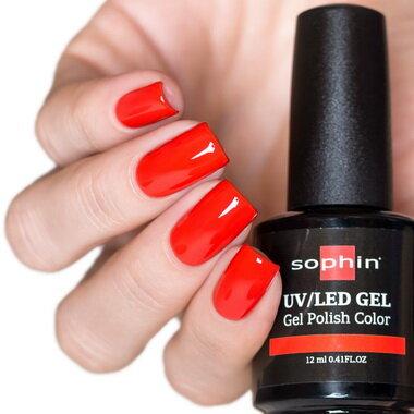 0717 GEL POLISH COLOR Цветной UV/LED гель-лак, 12мл ''coral red''