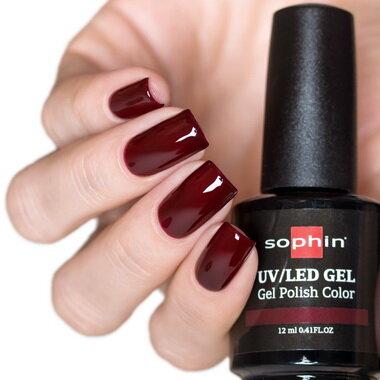 0718 GEL POLISH COLOR Цветной UV/LED гель-лак, 12мл ''cherry jam''
