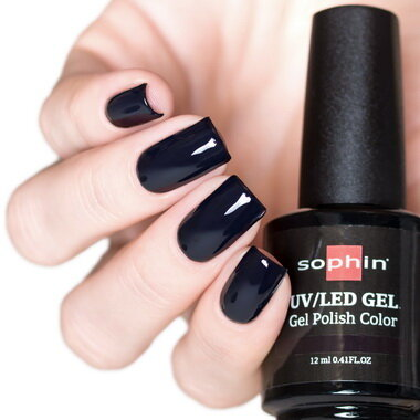 0721 GEL POLISH COLOR Цветной UV/LED гель-лак, 12мл ''black vynil''
