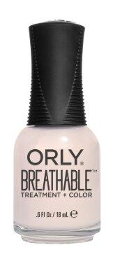 №908 Профессиональное  дышащее покрытие  BREATHABLE уход+цвет, Barely There, 18мл
