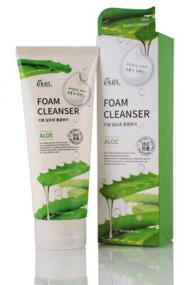 Ekel пенка для умывания освежающая и успокаивающая с экстрактом алоэ | Ekel Aloe Foam Cleanser