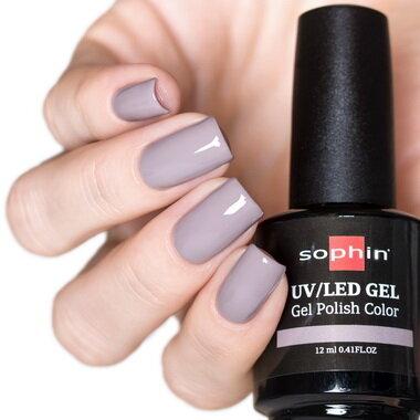 0728 GEL POLISH COLOR Цветной UV/LED гель-лак, 12мл ''antique grey''