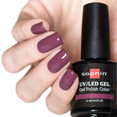 0729 GEL POLISH COLOR Цветной UV/LED гель-лак, 12мл ''desert plum''