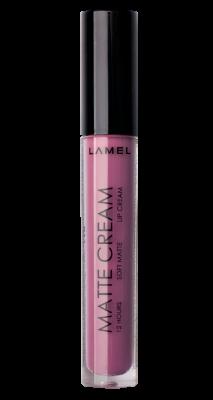 Lamel professional Жидкая матовая  помада для губ 10 черничный пирог Matte Cream
