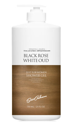 Гель для душа с афродизиаками черная роза и белый уд/750 мл.