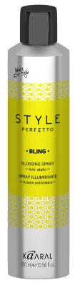 15934 STYLE Perfetto  BLING GLOSSING SPRAY. Спрей-защита от курчавости и для придания блеска 300 мл