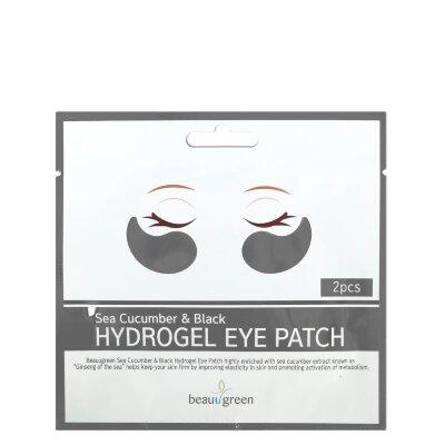 BeauuGreen патчи для кожи вокруг глаз гидрогелевыес экстрактом морского огурца | BeauuGreen Sea Cucumber Black Hydro-Gel Patch
