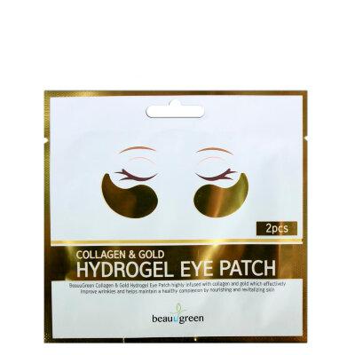 BeauuGreen патчи для кожи вокруг глаз гидрогелевыес коллагеном и коллоидным золотом | BeauuGreen Collagen & Gold Hydrogel Eye Patch