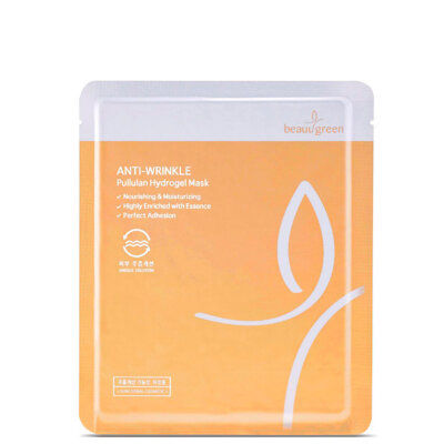 BeauuGreen маска гидрогелевая антивозврастная с пуллуланом | BeauuGreen Anti-Wrinkle Pullulan Hydrogel Mask